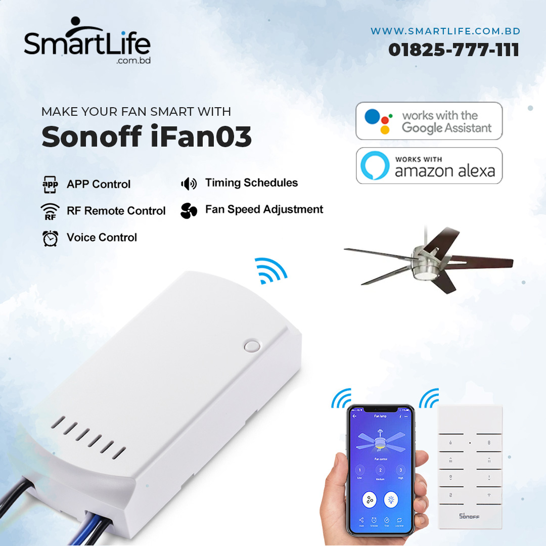 SONOFF Ifan03 - Wi-Fi Ceiling Fan And Light Controller